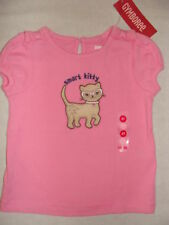 Gymboree SMART KITTIES Pink Kitty Cat Kitten Bow Shirt Top Tee NWT 18-24 Girls