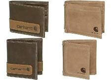 CARHARTT LEATHER WALLETS BI or TRI-FOLD NUBUCK or BROWN