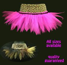 PLUS SIZE LEOPARD TUTUS GOTH/ CAVE GIRL FANCY DRESS