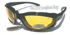 Motorcycle Glasses SHATTERPROOF Lens Clear Visibility 6231 great fit!