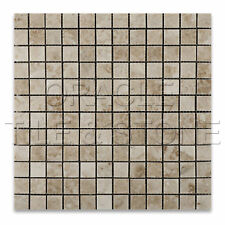 1 X 1 Cappuccino Marble Polished Mosaic Tile on Mesh