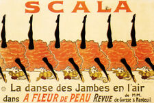 SCALA PARIS CABARET LEGS IN THE AIR CAN CAN DANCERS FRENCH VINTAGE POSTER REPRO