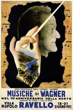 ITALY MUSIC WAGNER RAVELLO 1953 CONCERT SHOW ITALIA FINE VINTAGE POSTER REPRO