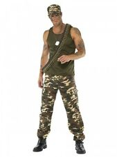 Mens Army Khaki Camo Officer Fancy Dress Costume Stag Party Outfit ideas