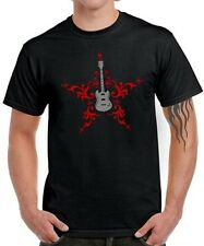 GUITAR HERO gitarre punk rock tribal tattoo music star Fun T-SHIRT