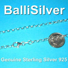 Sterling Silver 925 3.2mm ROLO / BELCHER Chain NECKLACE