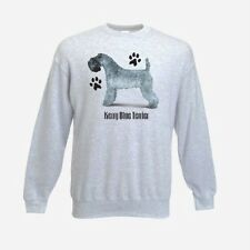 Kerrt Blue Terrier Paws Design Printed FOTL Ash Grey Sweatshirt