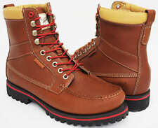 TIMBERLAND MENS BOOTS, SHOES 9 EYE MOCCASIN TOE UK 6.5 to 10.5 BROWN