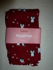 Gymboree PENGUIN CHALET Red Snowflake Penguin Leggings Pant NWT 6-12 6 9 12
