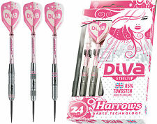 Harrows DIVA. 85% Pure Tungsten Darts with Flights and Slimpack Case
