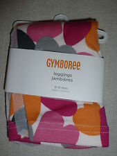 Gymboree PANDA ACADEMY Multi Color Heart Print Leggings Pant NWT Orange Pink