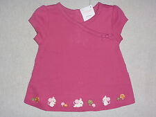 Gymboree CUTE AS A MOUSE Pink Mice Mushroom Bow Kimono Swing Top Tee Shirt NWT
