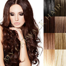 "26"" Micro Bead I Tip Remy Human Hair Extensions 200pc ALL COLOURS + DIY KIT 0.8g"