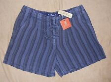 Tommy Bahama Relax Ocean Stripe Drawstring Linen Shorts Womens New With Tags