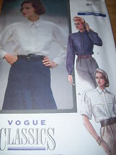 VOGUE #7646 LADIES LONG or SHORT SLEEVE SHIRT w/ALPHA TRANSFER PATTERN  6-10 uc