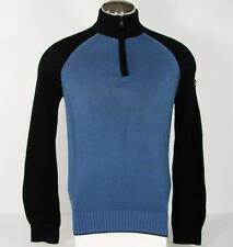 Nautica Blue 1/4 Zip Mock Neck Cotton Knit Sweater Mens NWT