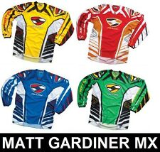 ALLOY MOTOCROSS MX CYCLING JERSEY TOP ENDURO RED YELLOW GREEN BLUE ADULT SMALL