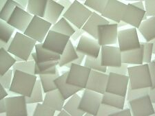 WHITE OPAL handcut stained glass mosaic tiles #136