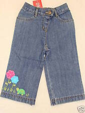 Gymboree TENNIS MATCH Turtle Poppy Flower Blue Jean Pants NWT 12-18 Spring