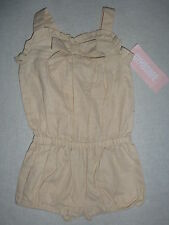 Gymboree ISLAND BEAUTY Tan Romper Bow 1 piece Shortie Short Outfit NWT BABY GIRL