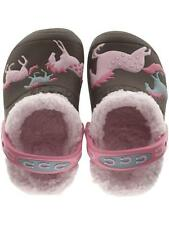 Crocs Girls WILD HORSE Espresso / Pink Lined Clog Size C10/11, C12/C13
