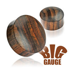 Pair Solid Organic Sono Wood Saddle Ear Plugs Tunnels Earlets Gauges