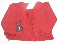 Gymboree HOLIDAY TRADITIONS Red Ruffle Plaid Bear Cardigan Sweater NWT Winter
