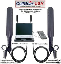 Sierra AT&T Elevate Mobile Hotspot BLADE MIMO DUAL Antenna Set w/Laptop Clip