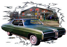 1968 Green Pontiac Grand Prix Custom Hot Rod Garage T-Shirt 68, Muscle Cars Tee