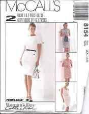 8154 UNCUT Vintage McCalls SEWING Pattern Misses One & Two Piece Dress OOP FF
