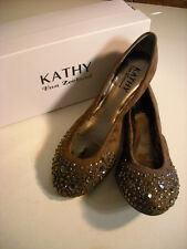 Kathy Van Zeeland Rebecca BROWN Jeweled Ballet Flat NEW