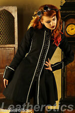 BLACK COTTON GOTHIC VINTAGE COSTUME VICTORIAN TOP MEDIEVAL STEAMPUNK JACKET ST4