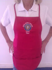 COLUMBIETTES CUSTOM EMBROIDERED MONOGRAM APRON