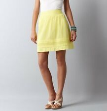 Ann Taylor Loft Eyelet Hem Skirt Size 6, 10, 14 NWT Lemon Meringue Color