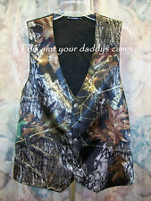 Mens Satin CAMO Wedding Prom Vest Custom Made in the USA