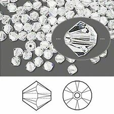 6 Swarovski Crystal 4mm Faceted Bicone Beads~Colors C