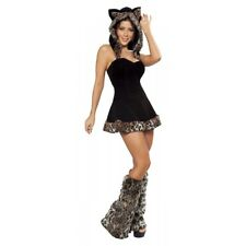 Playful Pussycat Jungle Cat Leopard Costume Halloween Fancy Dress