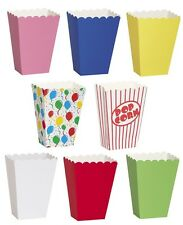 PARTY TREAT BOXES - Solid Colours & Patterned (Food/Loot Bags){fixed £1 UK p&p}