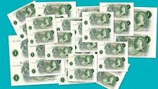 Large Selection Consecutive Pair O'Brien £1 banknotes 1960's Number Prefex