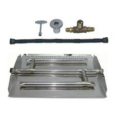 """16"""", 22"""", 28"""", 34"""" Triple Stainless Steel Burner Pan Fireplace Fire Pit Kit NG"""