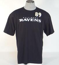 Reebok Baltimore Ravens Clayton 89 Black Short Sleeve Tee T Shirt Mens NWT
