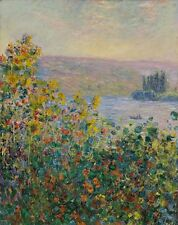 Flower Beds At Vetheuil Claude Monet 1881 Art Photo/Poster Repro Print Many Siz