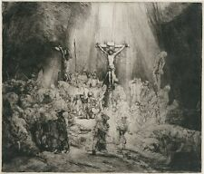 Photographic Reprint Christ Crucified Between Two Thieves Three Crosse