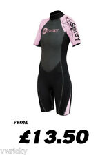 Osprey Black Pink OSX Childs Shortie Wetsuit 10 Sizes