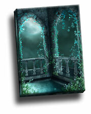 Beautiful Decay Turquoise Gothic Giclee Canvas Picture Art Decoration