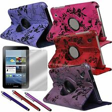 """Case Rotating Stand Stylus and Screen Protector for Samsung Galaxy Tab2 7"""" P3113"""