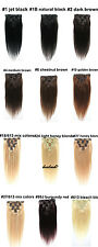"""14""""-30"""" Full Head India Clip in Remy Human Hair Extensions 70g 100g 12 Colors"""