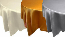"24 pcs 90x90"" SATIN Table OVERLAYS - Wholesale Square Wedding Linens Discounted"