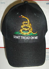 Don't Tread On Me - Gadsden Flag Tea Party Cap Hat Chose Yellow or Black
