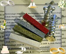 New You Choose Wax Seal Sticks Or Hot Wax Stampers! Invitations, Weddings!